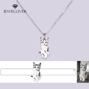 Custom Pet Portrait Necklace