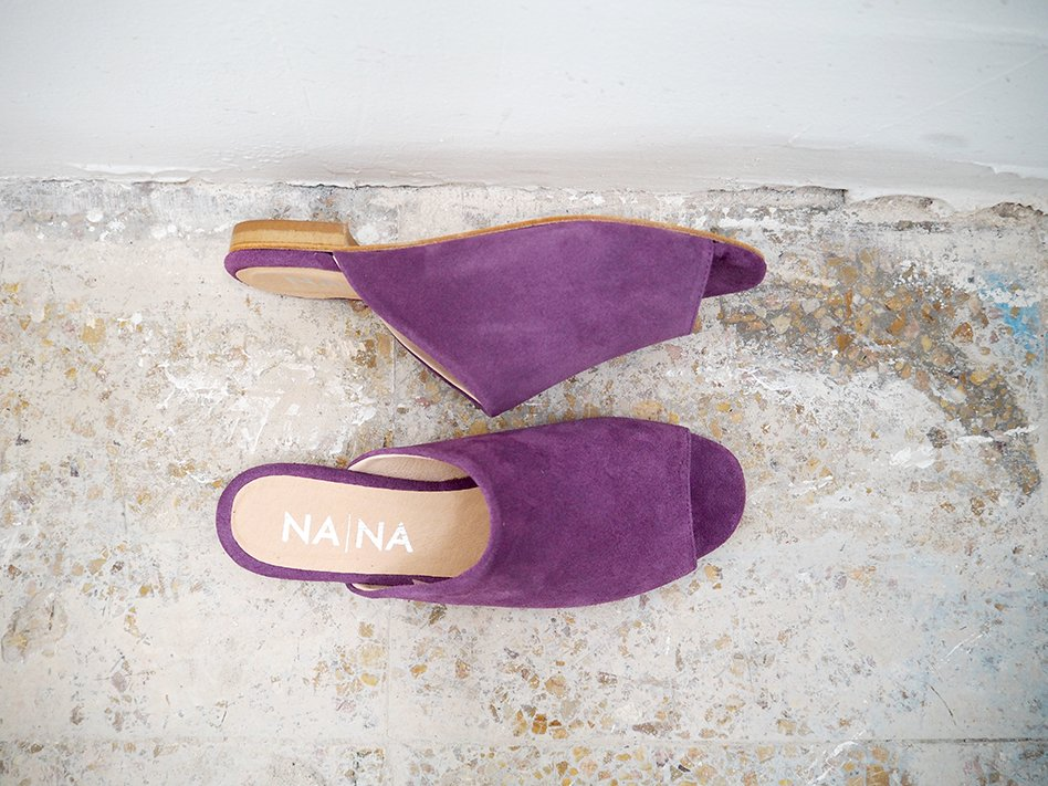 Alnitak  Lilac suede Leather