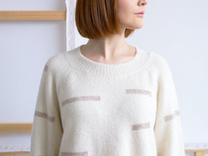 ORIONIS Light Ivory -  Sweater baby alpaca blend merino wool