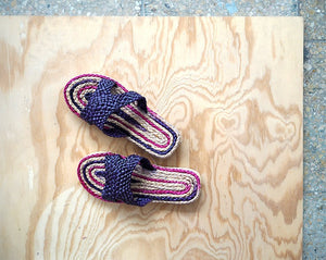 Rigel Sandals.  Natural Slippers Lilac color.