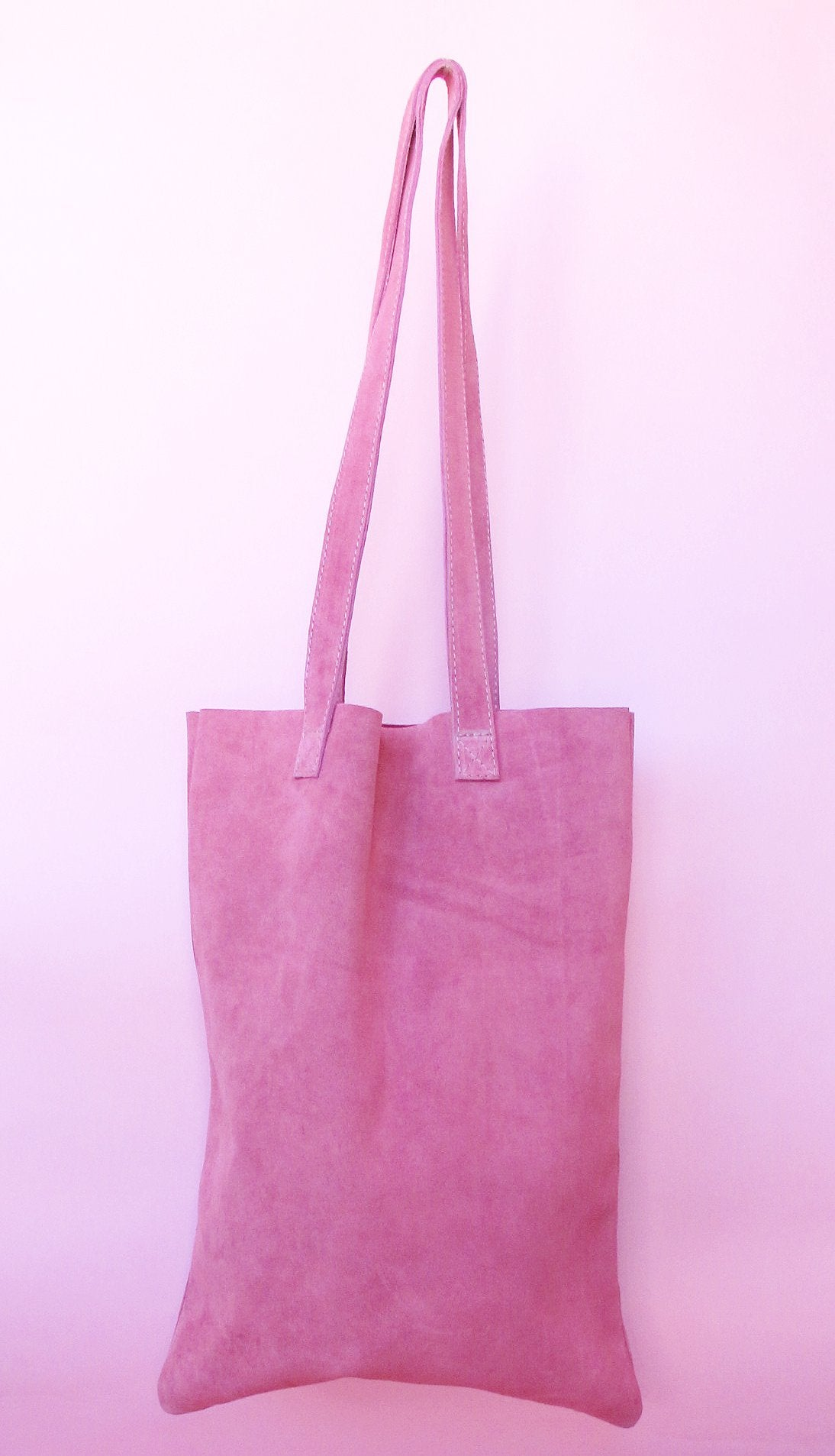 Suede Tote bag in Summer color