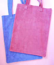 Load image into Gallery viewer, Suede Tote bag in Summer color