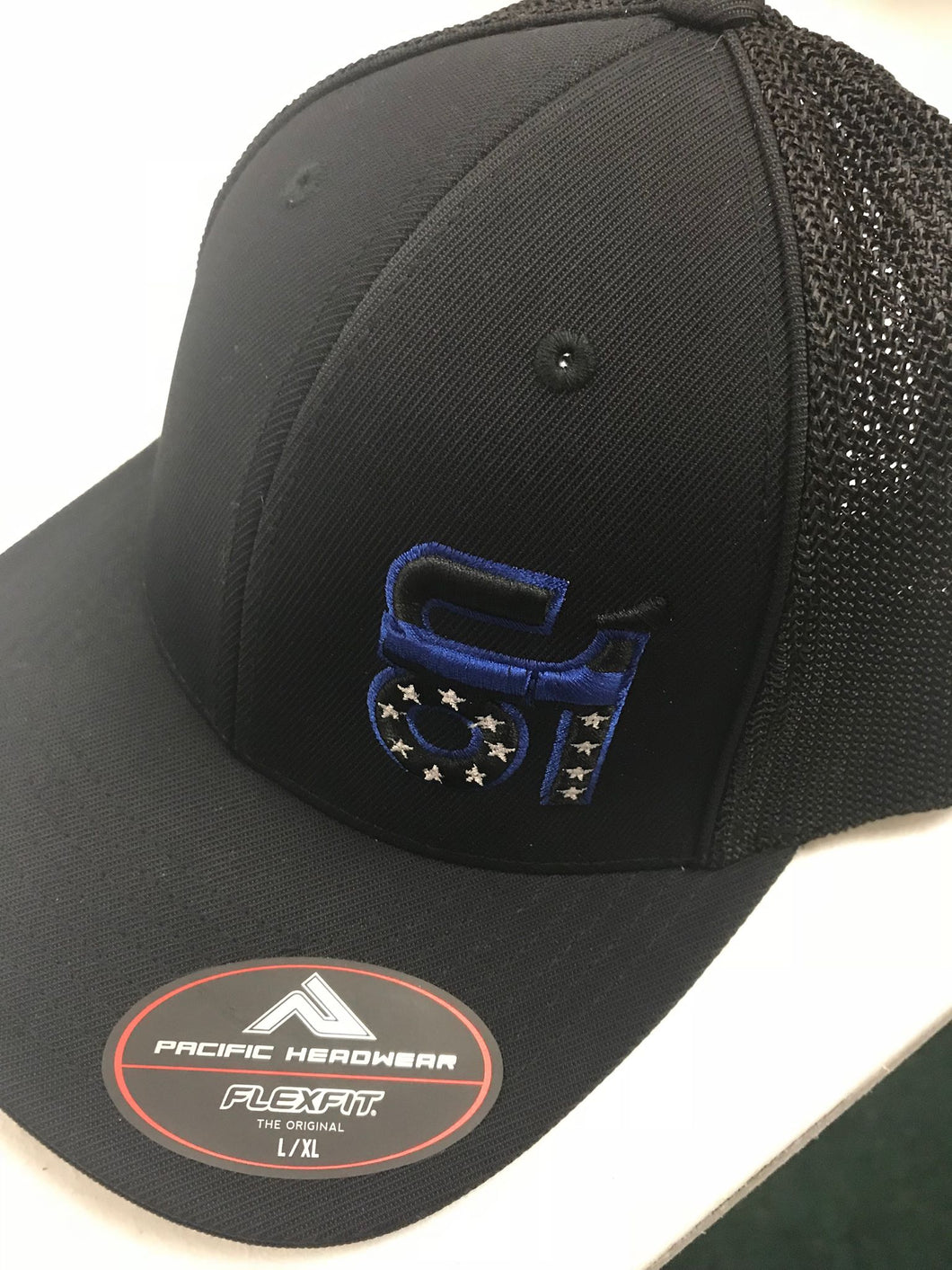 All Black w/ Blue Line ON1 Logo