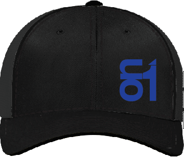 Black with Blue ON1 Logo