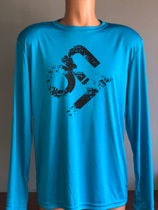 Electric Blue Mens Long Sleeve