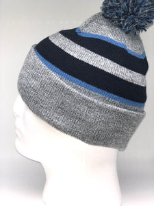 641K Heather, Navy, Blue White Winter Beanie
