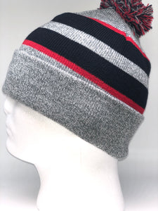641K Heather, Black, Red  Winter Beanie