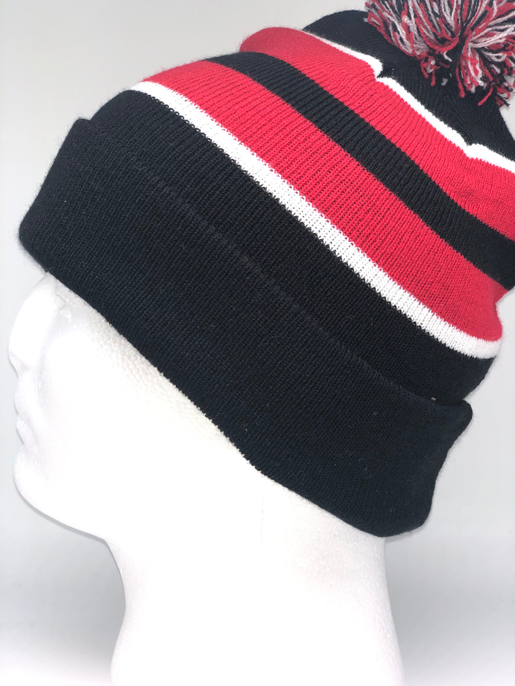 641K Navy, Red, White Winter Beanie