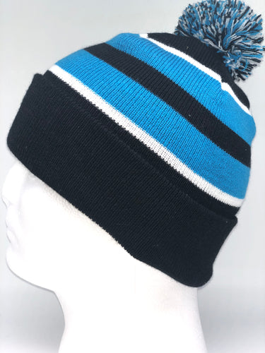 641K Black, White, Blue Winter Beanie