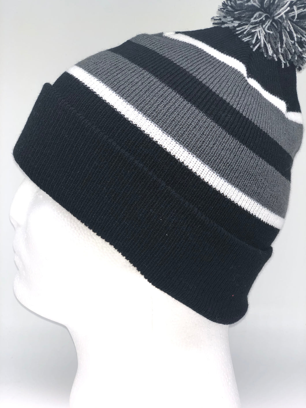 641K Black, White, Graphite Winter Beanie