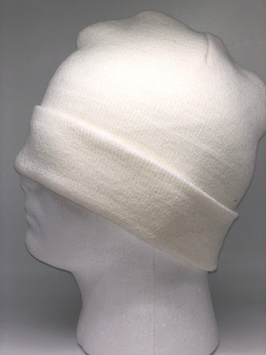 621K White Winter Beanie