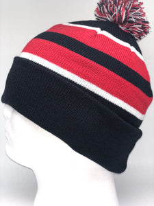 641K Black, White, Red Winter Beanie