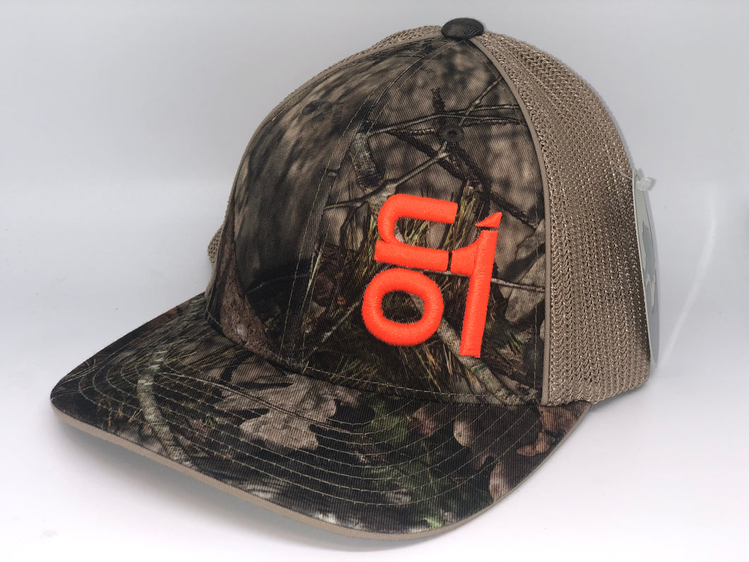 Camo w/ Tan Mesh and Orange ON1 logo