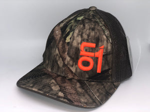 Camo w/ Graphite Mesh and Orange ON1 logo
