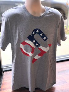 Grey-American Flag ON1 Shirt