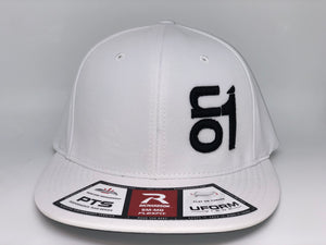 BLACK ON1 Logo- Richardson PTS20-White Back/White Crown/WhiteBrim