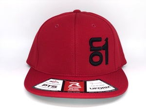 BLACK ON1 Logo- Richardson PTS20- Red Back/Red Crown/Red Brim