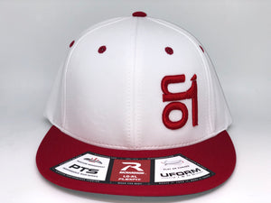 RED ON1 Logo- Richardson PTS20- White Back/White Crown/Red Brim