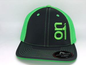 Neon Green ON1 Logo-Neon Green Mesh/Black Crown/Black Brim