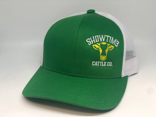 SHOWT1M3 CATTLE CO. GREEN & WHITE