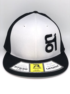 BLACK ON1 Logo- Richardson PTS30-Black Back/White Crown/Black Brim