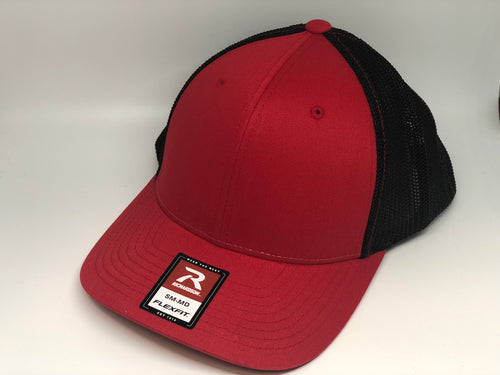 Red Crown, Red Brim, Black Mesh