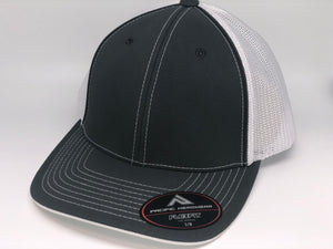 Graphite Crown, Graphite Brim, White Mesh