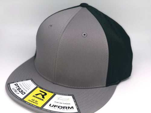 Graphite Crown, Graphite Brim, Green Mesh