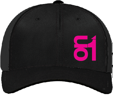Black with Neon Pink ON1 Logo