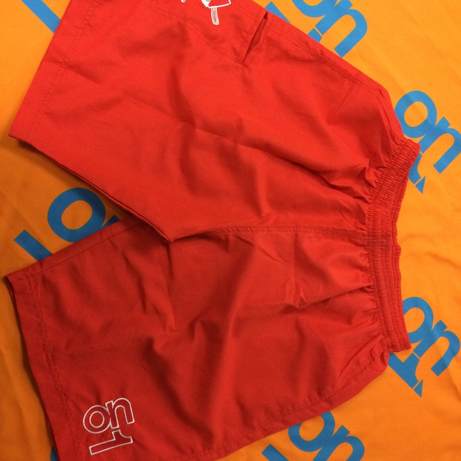 Red 4 Way Stretch Shorts