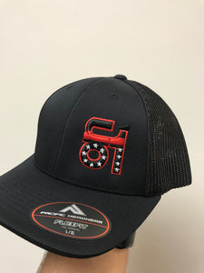 All Black w/ Red Line ON1 Logo