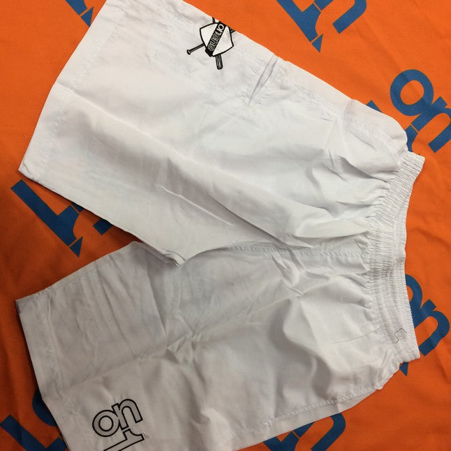 2018 White Microfiber 4 Way Stretch Shorts
