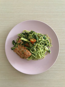 Basil Pesto Pasta with Smoked Chicken