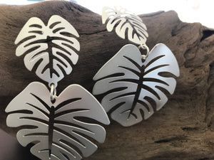 Palm leaf earrings-handmade