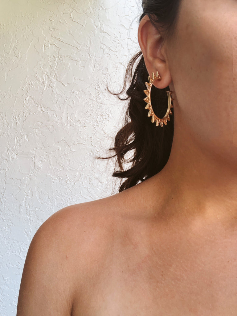 Ray of Sunshine Hoop Earrings