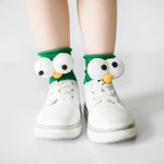 Adorable Big Eyes Decor Loose Socks for Baby and Toddler