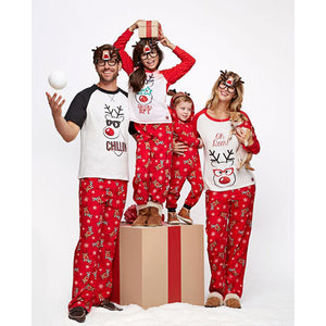 Christmas deer print Family Matching Pajamas
