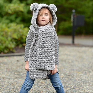 Autumn Winter Hooded Scarf-Crochet PATTERN