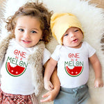 Melon Pattern Romper & T-Shirt Tops