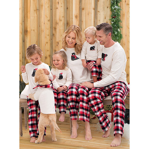 Cartoon Bear Pajamas Family Matching Outfit