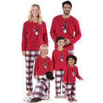 Sweet Family Elk Printed Long Sleeve Matching Pajamas Set