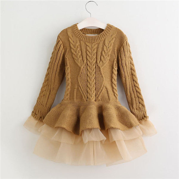 Pullover Knitted Tulle Dress