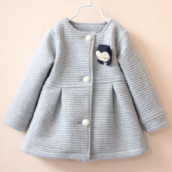 Sweet Round Neck Bowknot Coat