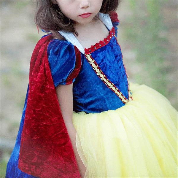 Cloak Lantern Sleeve Velvet Princess Dress