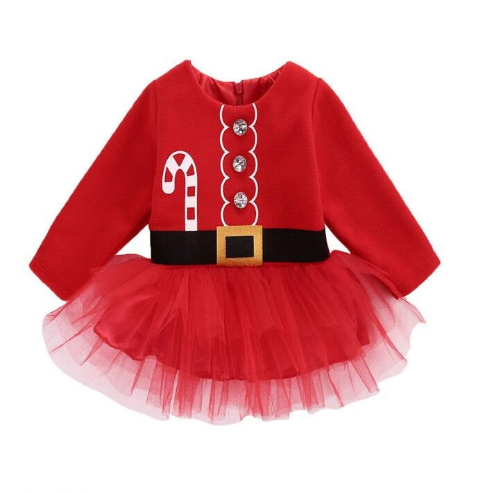 Christmas Cute Bubble Dress for Girls