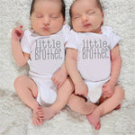 Little Brother Romper& Big Brother T-Shirt Matching Shirts