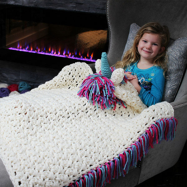 Unicorn Shawl And Blanket For Kids