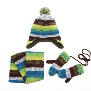 3-Piece Warmer Set-- Hat Scarf and Gloves