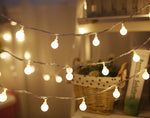 Christmas Decoration Ballshaped Design String Lights -- Warm Light