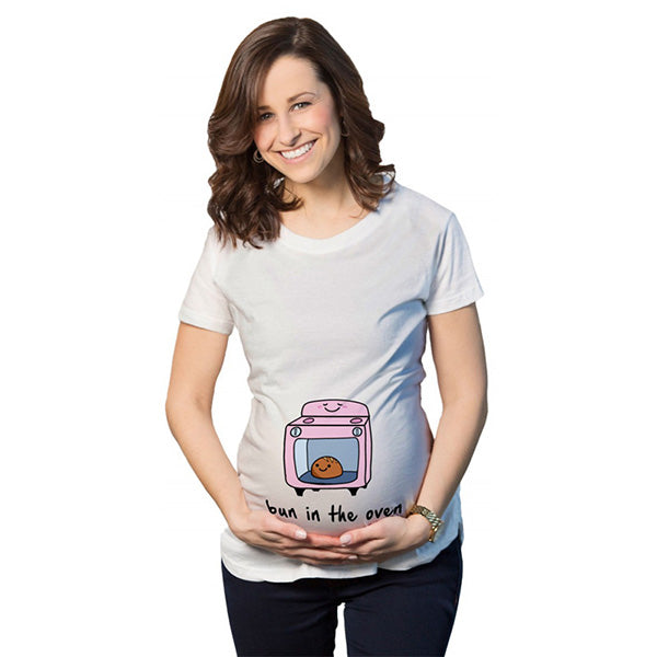 Pregnant Cute Cartoon T-shirt